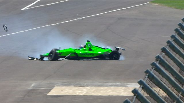 Danica crashes out of Indy 500, her final race