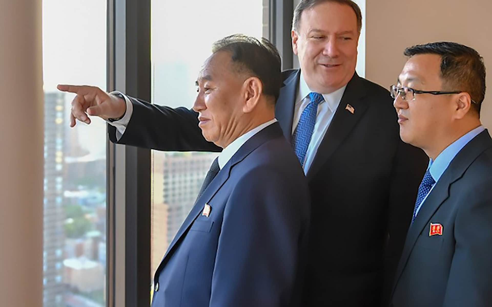 North Korean spymaster Kim Yong-chol meets Mike Pompeo in New York ahead of planned Trump summit