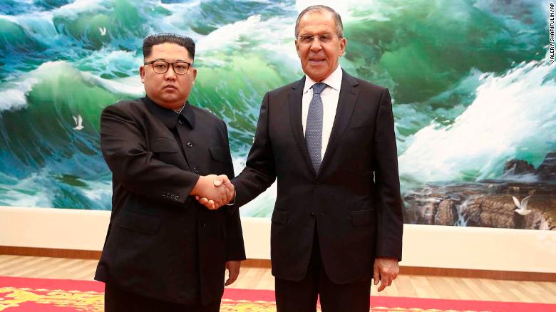 Russian foreign minister meets Kim, calls for lifting of sanctions