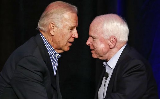 John McCain, battling brain cancer, tells Biden to stay in politics