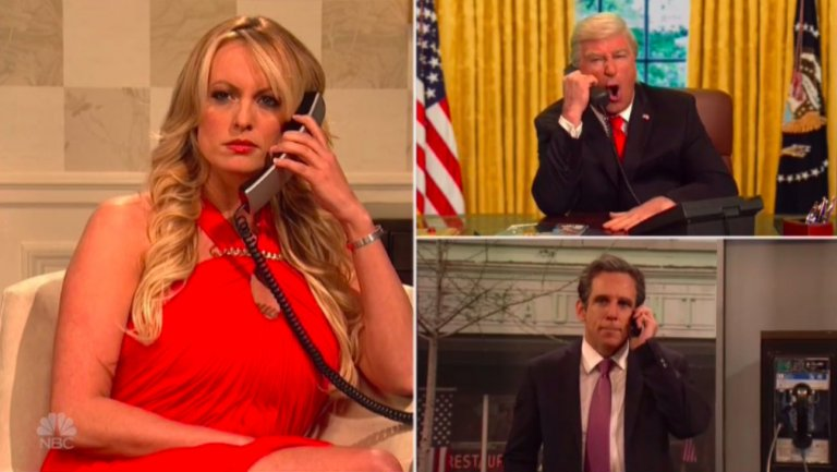 Stormy Daniels Plays Herself in Star-Studded SNL Cold Open