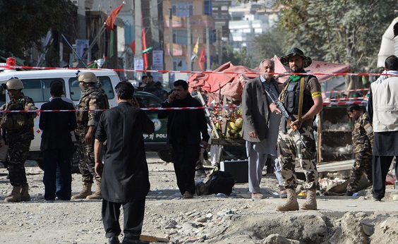Bomb at Afghanistan voter registration centre leaves 12 dead