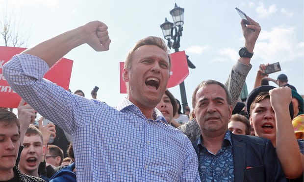 Russian police release opposition leader Alexei Navalny