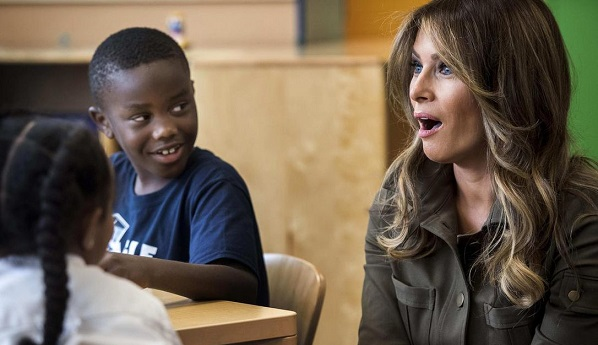 Melania Trump to focus on social media behaviour in children's agenda