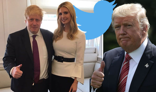 Boris Johnson and Ivanka Trump photo MOCKED on Twitter: 'CREEPIER version of your daddy