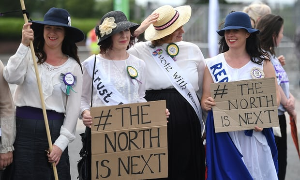 Women march across UK to celebrate 100 years of female suffrage
