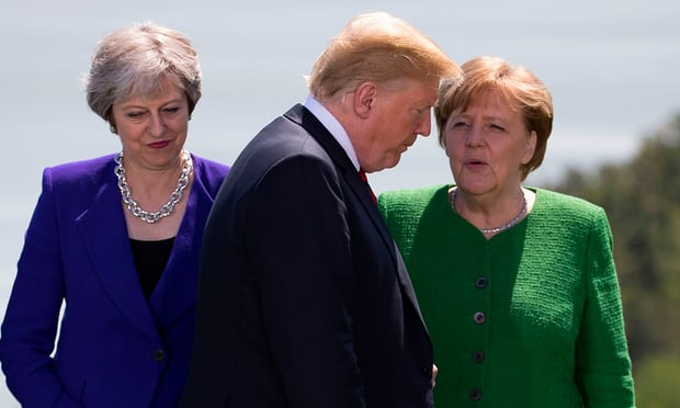 Theresa May says G7 summit with Donald Trump was difficult