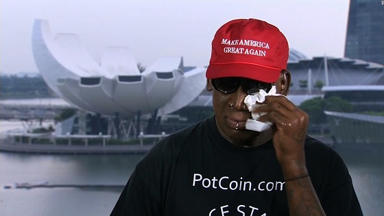 Dennis Rodman gets emotional discussing Trump and Kim