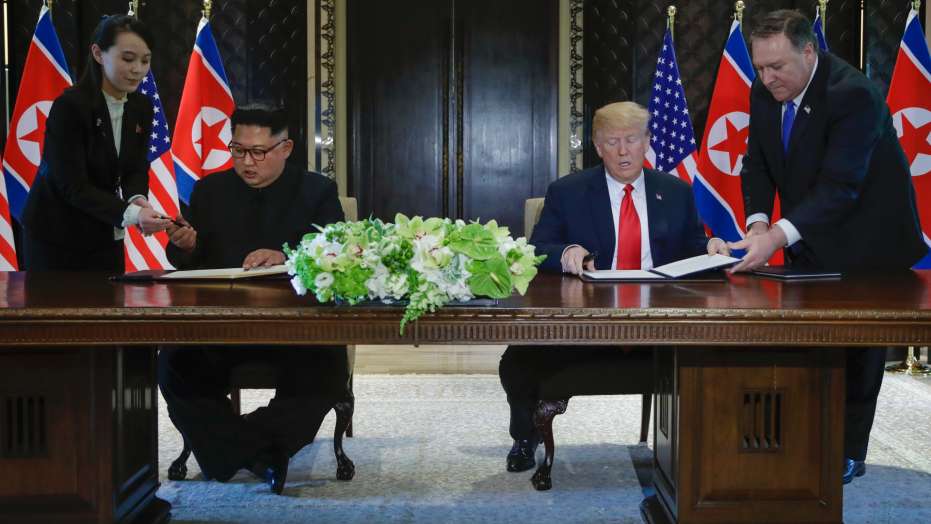 The Latest: Pompeo updates Japan, South Korea after summit