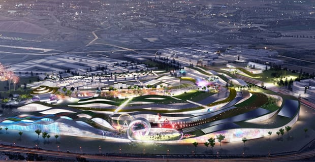 Dubai in Paris: French climate protesters fight plans for €3bn theme park