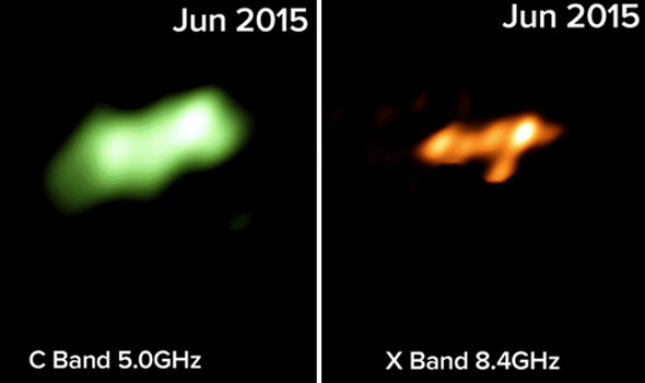 SHOCKING images of MONSTER black hole's super powerful jet ripping a star apart