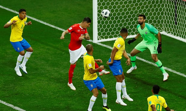 Switzerland's Zuber heads controversial equaliser to deny Brazil victory