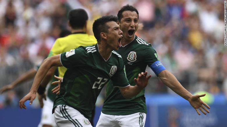 Mexico stun defending champs Germany