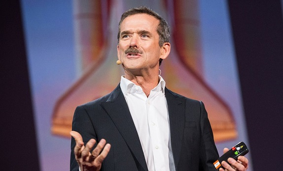 Astronaut Chris Hadfield says the rockets from NASA, SpaceX, and Blue Origin wont take people to Mars