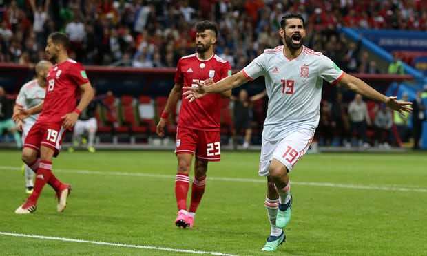 Diego Costa gets luck of the bounce as Spain deny unfortunate Iran