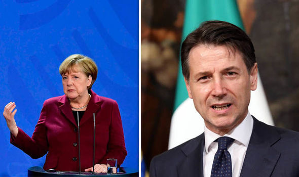 Angela Merkel refuses Italy debt write-off amid fears government could DESTROY eurozone