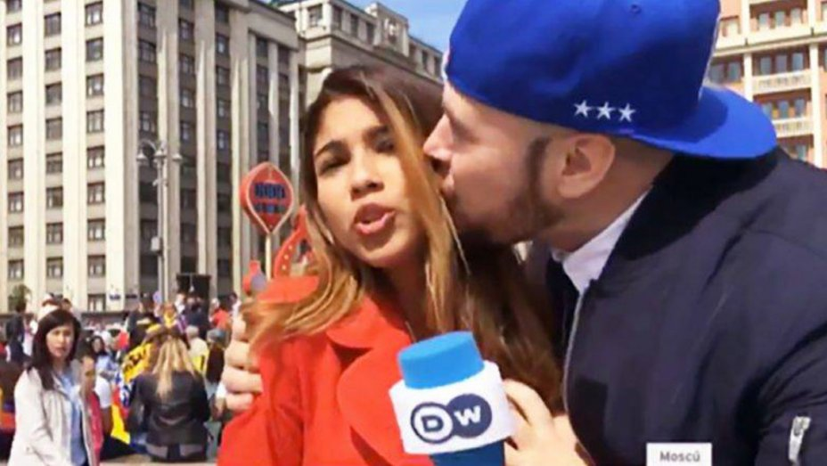 World Cup: Fan Apologizes to TV Reporter For Groping Her on Live TV