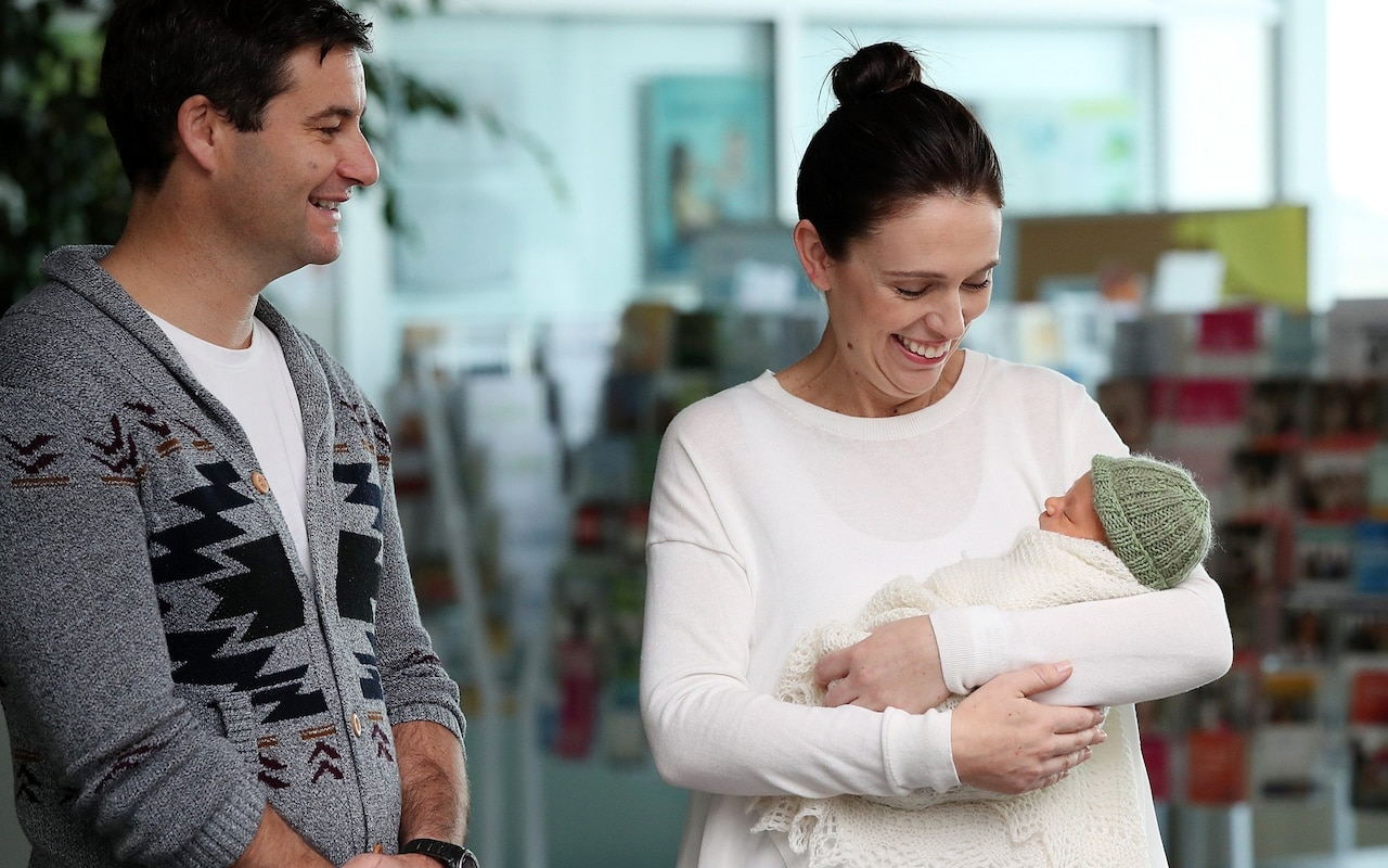 New Zealand prime minister Jacinda Ardern introduces baby Neve te Aroha to the world