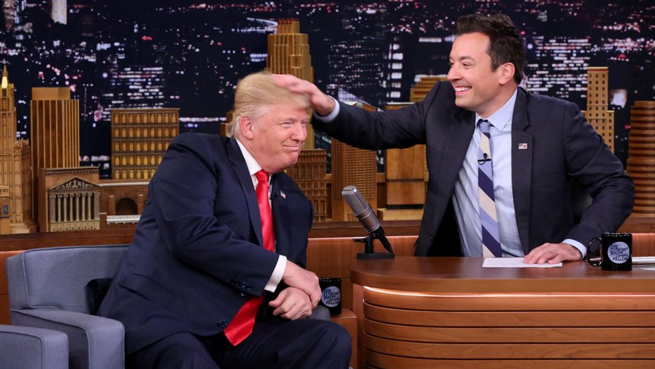 Trump Attacks Jimmy Fallon for Hollywood Reporter Podcast Hair Tussle Comments: Be a Man, Jimmy!