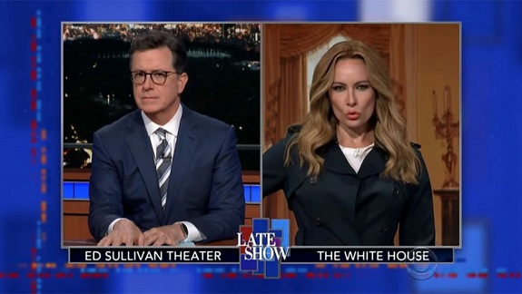Laura Benanti Brings Back Melania Trump Impression to Discuss I Really Dont Care Jacket