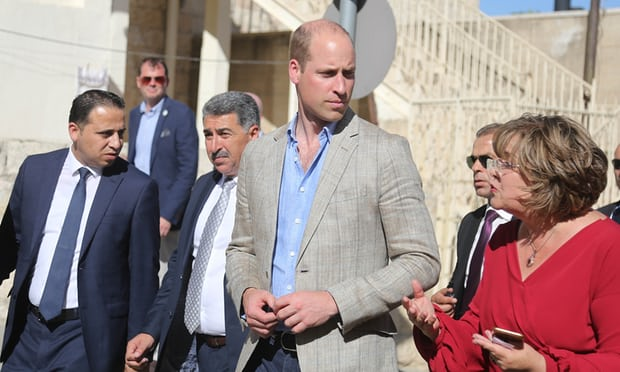 You have not been forgotten, Prince William tells Palestinians