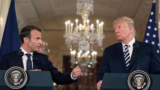 Trumps phone call with Macron described as terrible