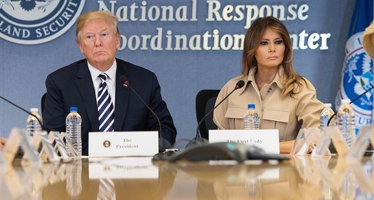 Amid rumors, Melania Trump makes first public appearance in nearly a month