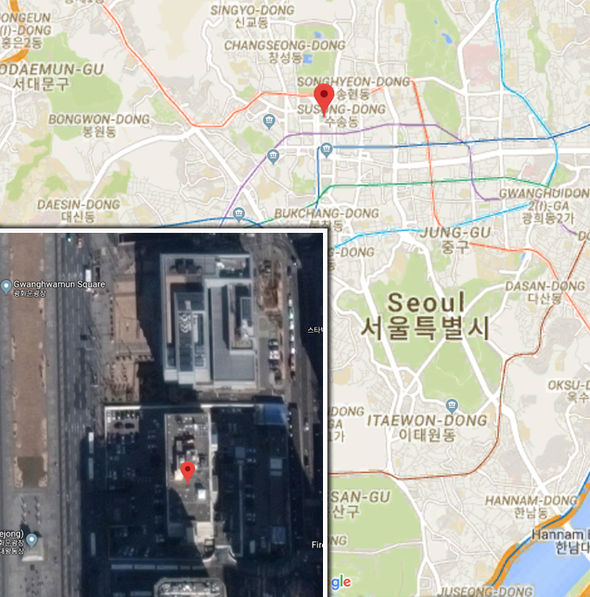 Car RAMS into US Embassy in Seoul driven by North Korean defector screaming help me!