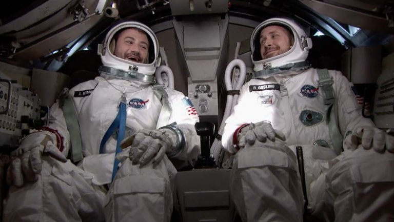Jimmy Kimmel, Ryan Gosling Travel to Space to Celebrate First Man Trailer Release