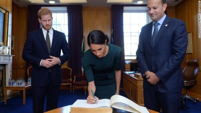 Duke and Duchess of Sussex arrive in Ireland on first international trip