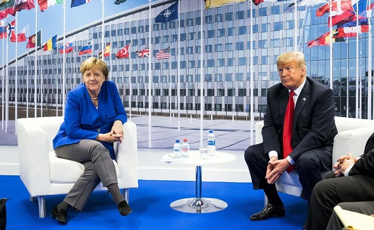 Merkel pushes back against Trump's claim that Germany is 'totally controlled' by Russia
