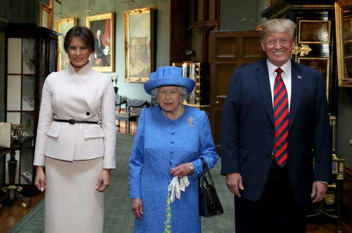 Queen Elizabeth Meets With Trump And Melania