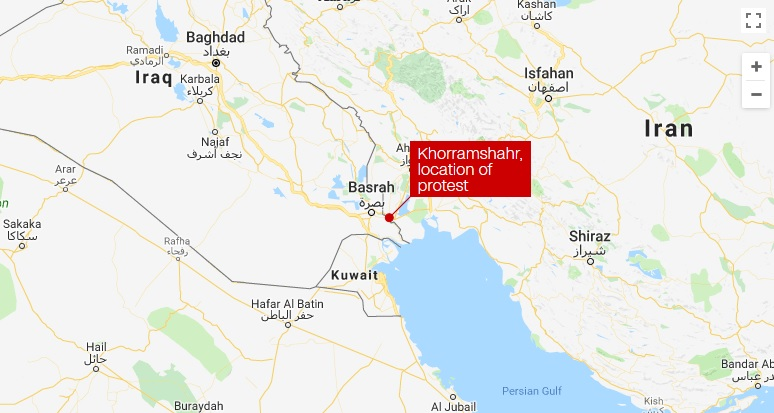 Iran protest turns violent; at least 1 death reported