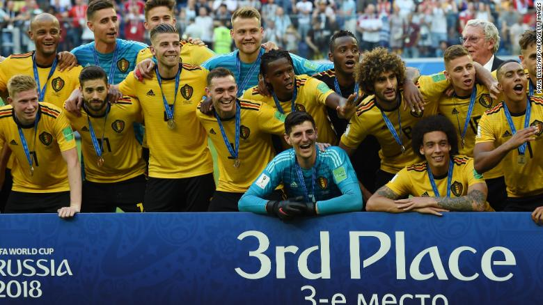 Belgium records best finish with victory over England