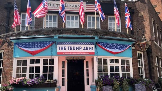 Trump supporters turn out in London a day after protests