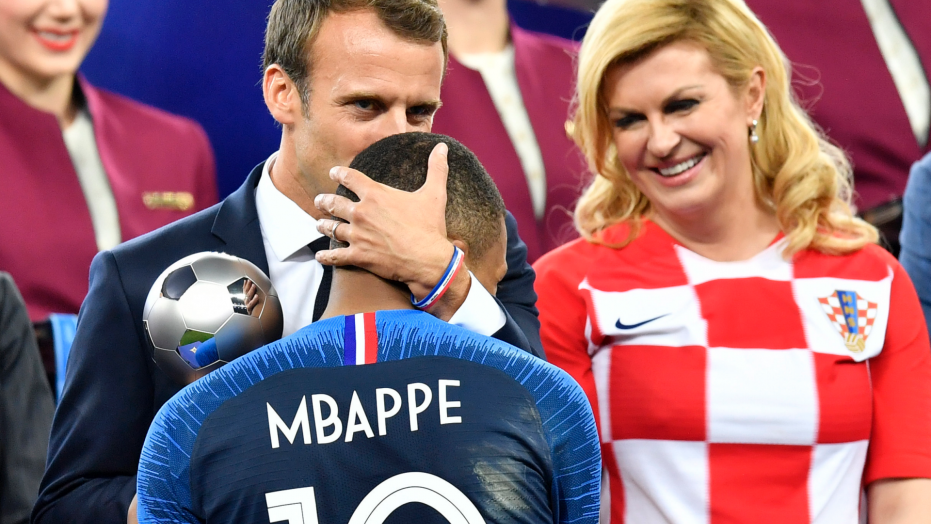 French President Macron has plenty of fun at World Cup final