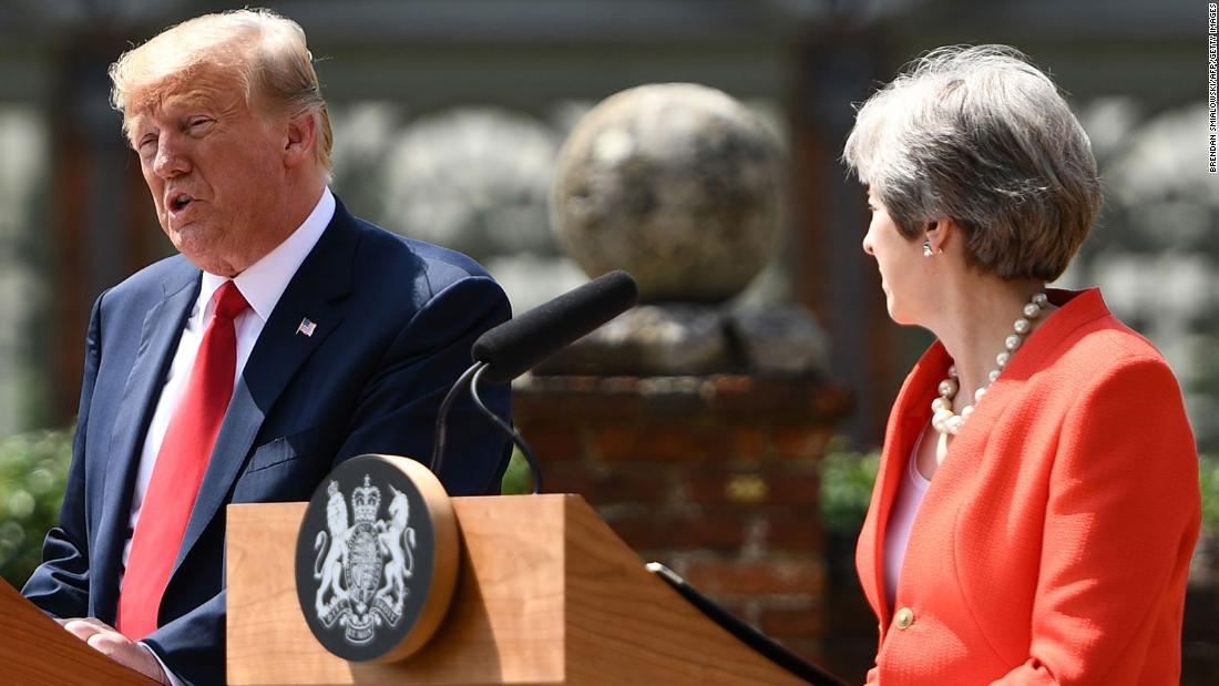 May: Trump advised me to sue the EU
