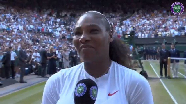 Serena sends message to moms after Wimbledon loss