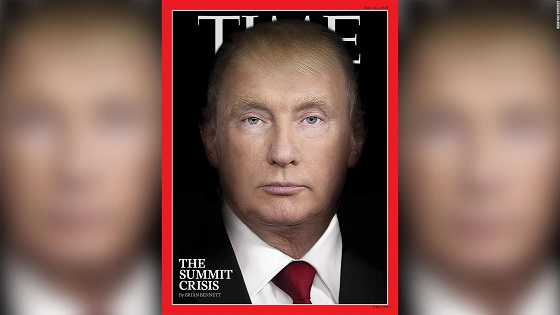 Trump and Putin morph into same person on Time magazine cover