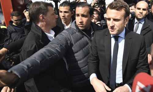 Macron security officer in custody and will be fired over violent video
