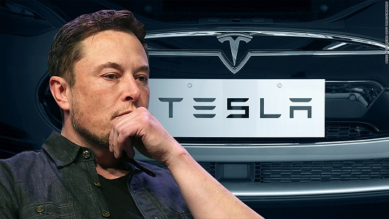 Elon Musk tweets and Teslas stock tumbles