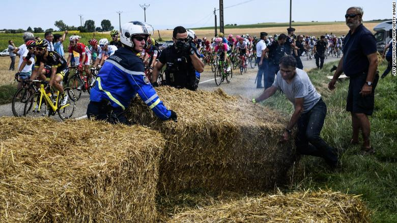 Tour de France riders accidentally tear-gassed