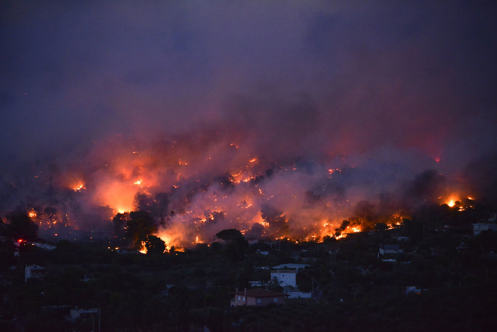 A Terrible Day: Greek Wildfires Kill At Least 74 People, Devastate Resort Village