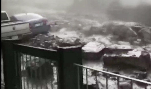 WATCH: Colorado residents SHOCKED as destructive flooding crashes through home