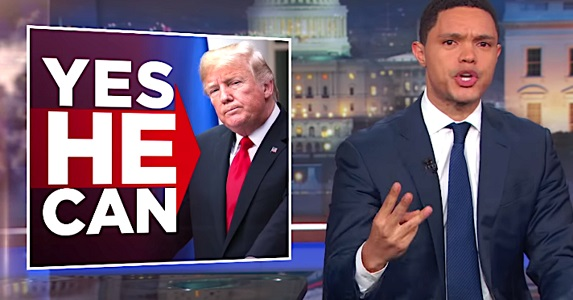 Trevor Noah Fawns Over 'Great Leader' Trump In Brutal Takedown