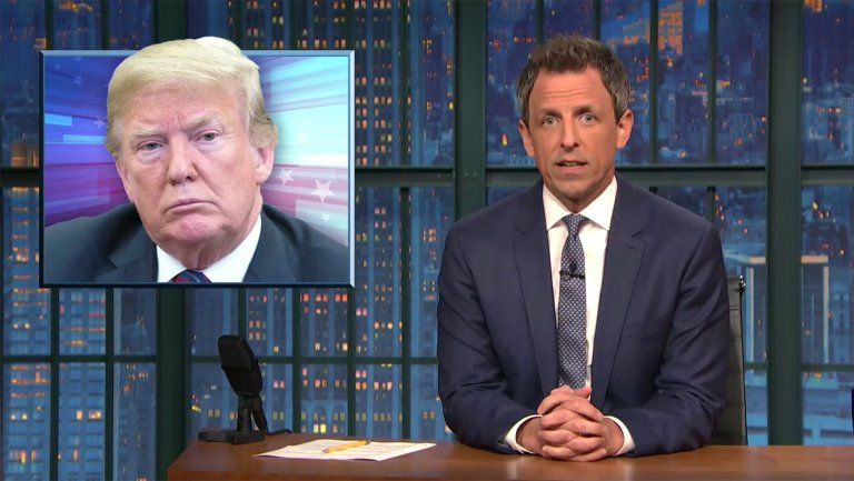 Seth Meyers Mocks Trumps Knowledge of Independence Day in Late Night Spoof