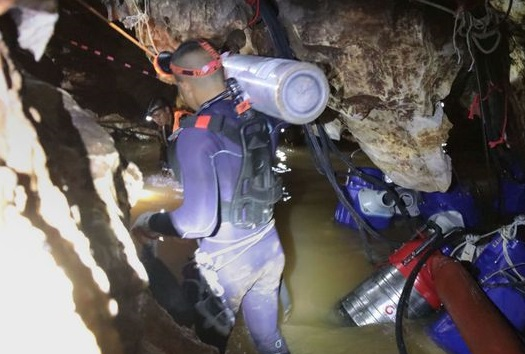 4 are out; 9 to go: Captivated world watches Thailand cave rescue