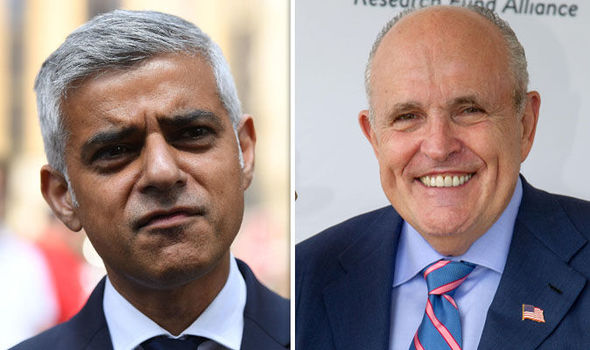 DO YOUR JOB Sadiq Khan 'should be ashamed over Trump balloon insult' warns Giuliani