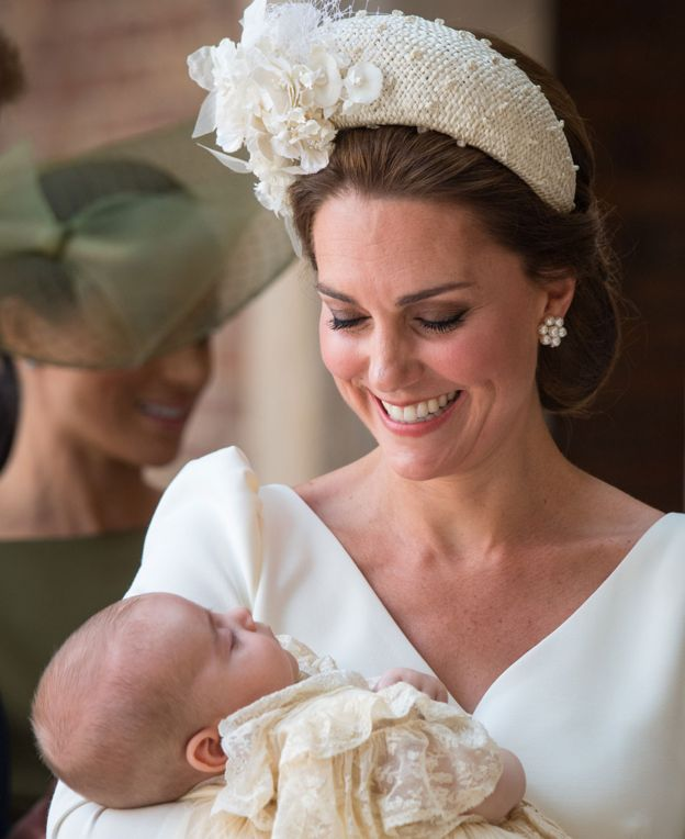 Prince Louis christening: George and Charlotte seen with brother for first time