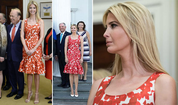 Ivanka Trump shows off thrifty side wearing striking dress she first debuted last year